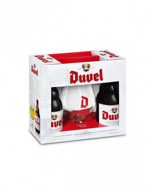 Coffret Duvel 2*33cl + 1 Verre