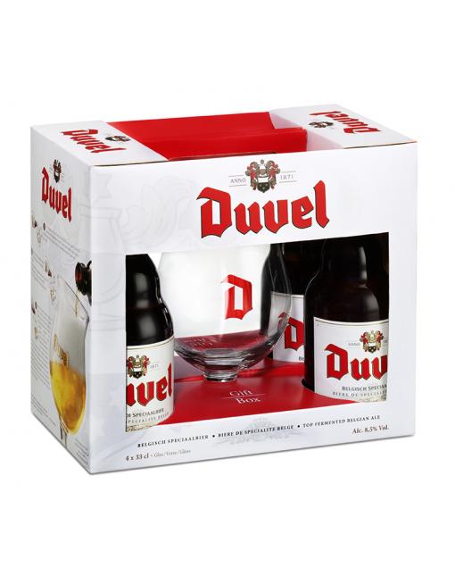 Coffret Duvel 4x33cl + 1 Verre