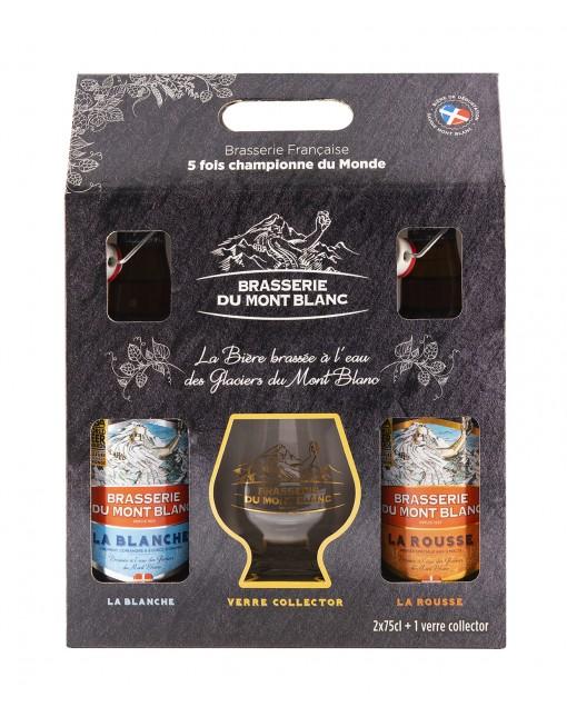 Coffret Brasserie Du Mont Blanc 2x75cl + 1 Verre