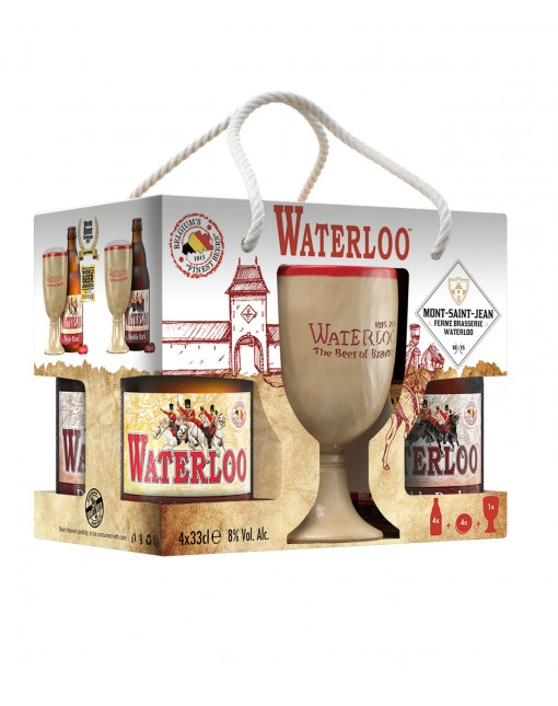 Coffret Waterloo 4x33cl + 1 Verre