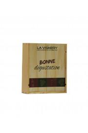 """Caisse Bois 3 Bouteilles """" Bonne Dégustation """""""
