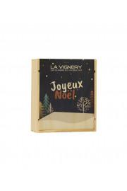 """Caisse Bois 3 Bouteilles """" Joyeux Noêl """""""